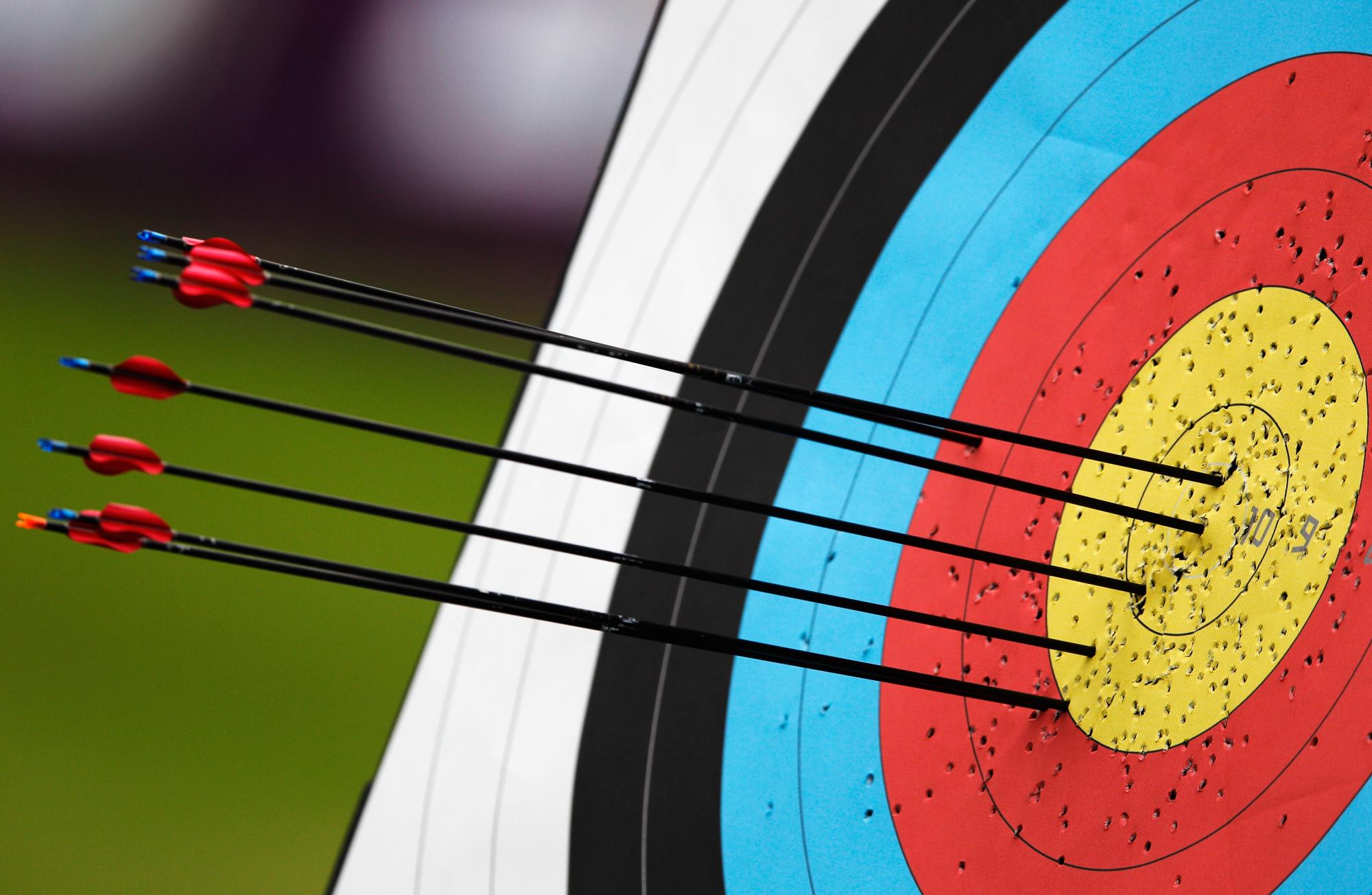 arrow target practice the cardinal district